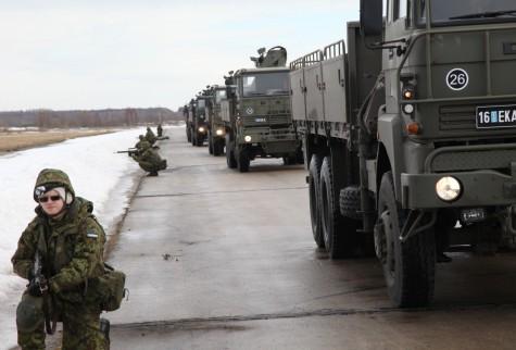 Logistikaõppus Kiltsi lennuväljal märtsis 2012. Foto: Arvo Tarmula