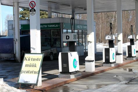 Kiltsi tankla ei müü kütust mullu detsembrist saadik, kuigi tanklal on müügiluba. Foto: Katrin Pärnpuu