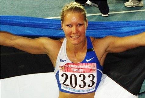 Kairit Olenko Taipeis aastal 2009, kui ta olümpiamängudel kuldmedali sai.