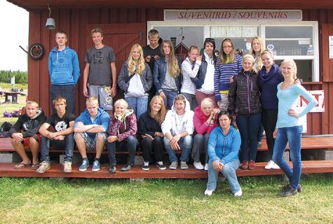 Läänemaa õpilasmalev lõppes Vormsil, kus  malevlased võtsid osa veeohutuslaagrist. Foto: Ülle Lass