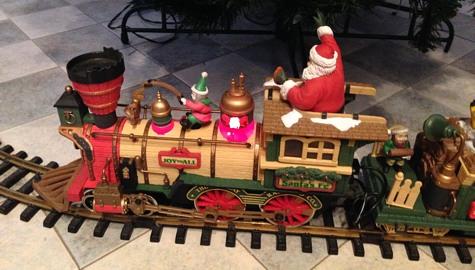 Jõulurong Haapsalu raudteemuuseumis