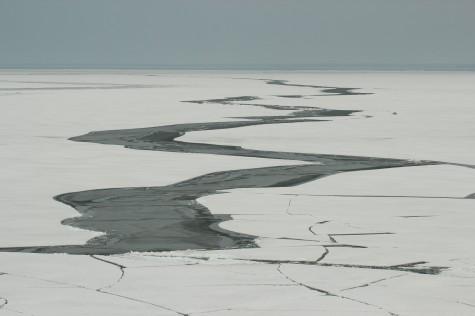 Jääpragu eelmisel talvel Vormsi ja Hiiumaa laevatee vahel. Foto: Urmas Lauri