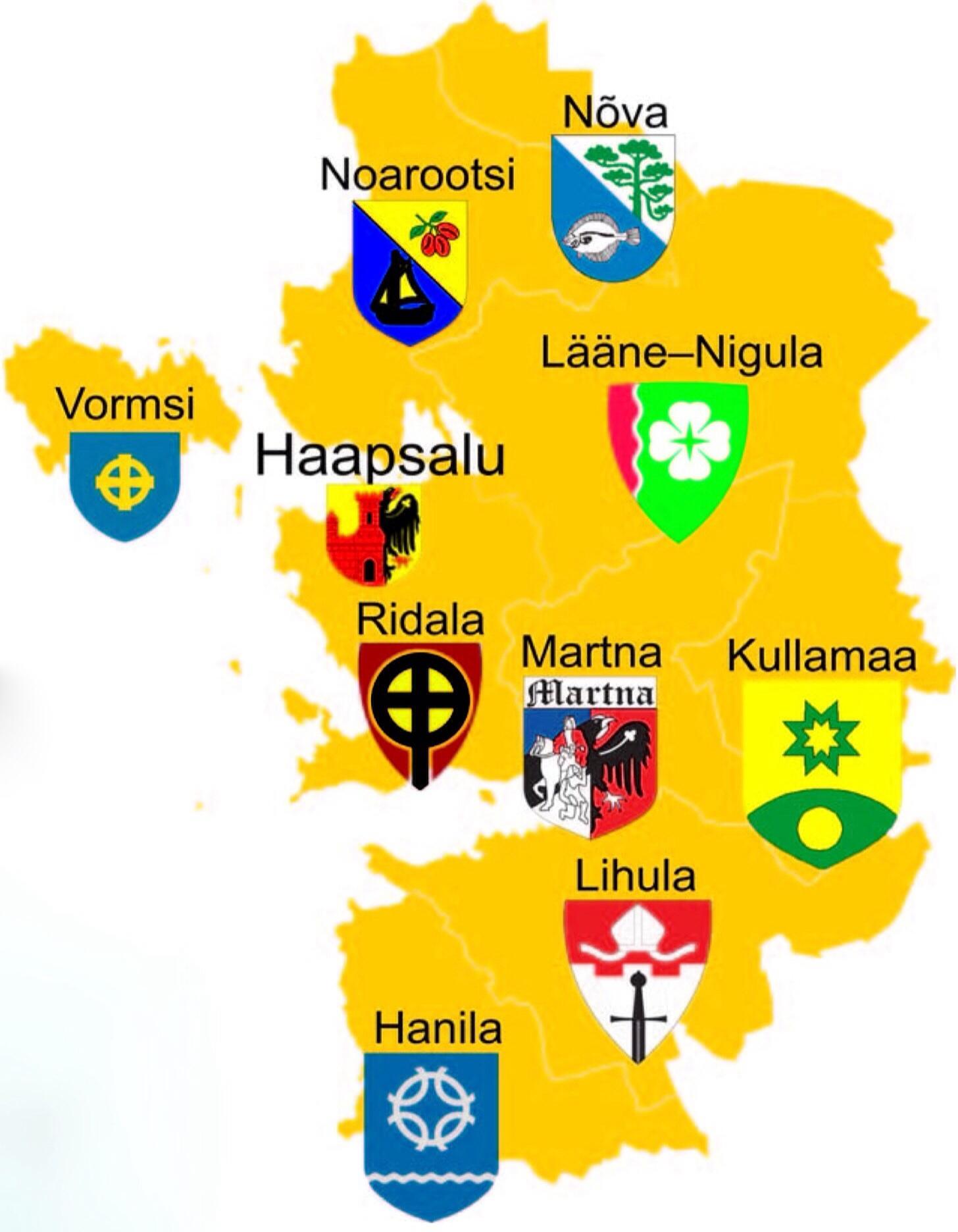 Läänemaa valdade vapid
