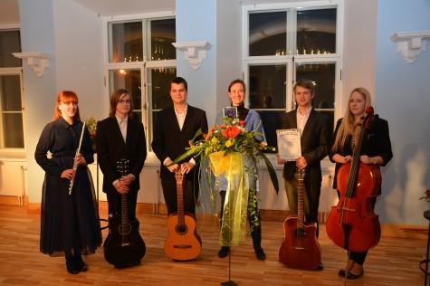Läänemaa ühisgümnaasiumi kvintett. Foto: erakogu