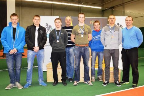 Fred Martin Mägi (vasakult), Cardo Jurs, Lauri Leier, Aap Uspenski, Joonas Kaskmäe, Markus Pastjan, Reimo Milva ja Janar Sõber. Foto: Erakogu