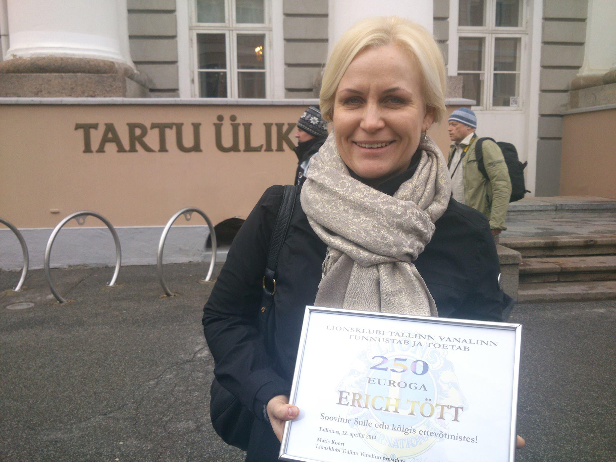 LC Haapsalu Valge Daam president Irene Väli. Foto: Urmas Lauri
