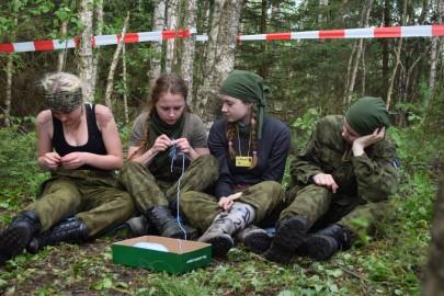 Ernake, kontrollpunkt KUDUMINE. Pildil Liivia Lints, Maris Esko, Liisa Raavel, Karmen Murumets, Heli Esko pilt (3)