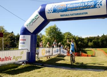 Matsalu rattamaratoni võitja Caspar Austa. F Kristjan Kosk