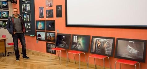 Tõnis Krikk Narva fotofestivalil Foto Monika Pook