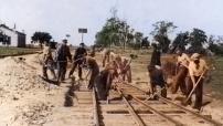 Virtsu raudtee ehitus. Foto Priit Mäeltsemehe kogust