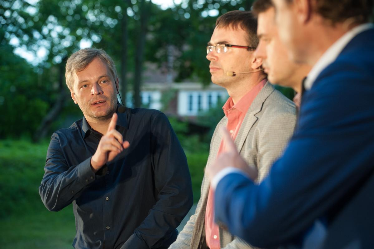 Arvamusfestival 2014; Parlamendierakondade juhtide debatt; Sven Mikser; Urmas Reinsalu; Taavi Rõivas;