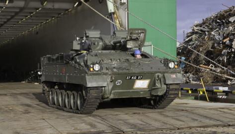 Brittide lahingutehnika saabumine Eestisse.22.01 (6)
