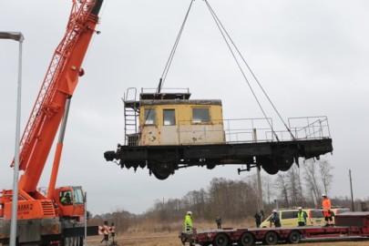 Raudteemuuseumi veeremi toomine Haapsallu. Tarmula24