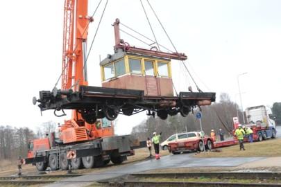 Raudteemuuseumi veeremi toomine Haapsallu. Tarmula35