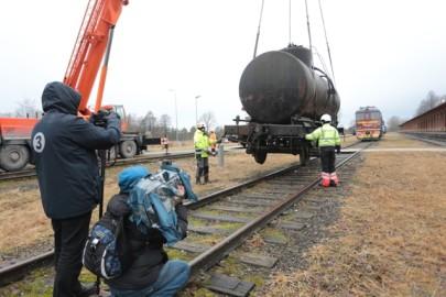 Raudteemuuseumi veeremi toomine Haapsallu. Tarmula41