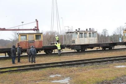 Raudteemuuseumi veeremi toomine Haapsallu. Tarmula50