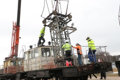 Raudteemuuseumi veeremi toomine Haapsallu. Tarmula56