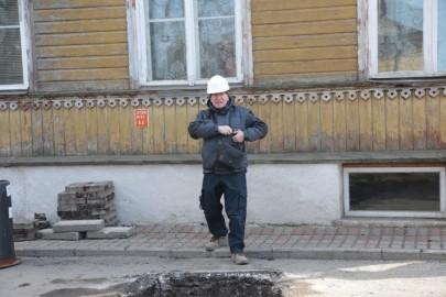 Linnamüür Rüütli tänaval. Tarmula02