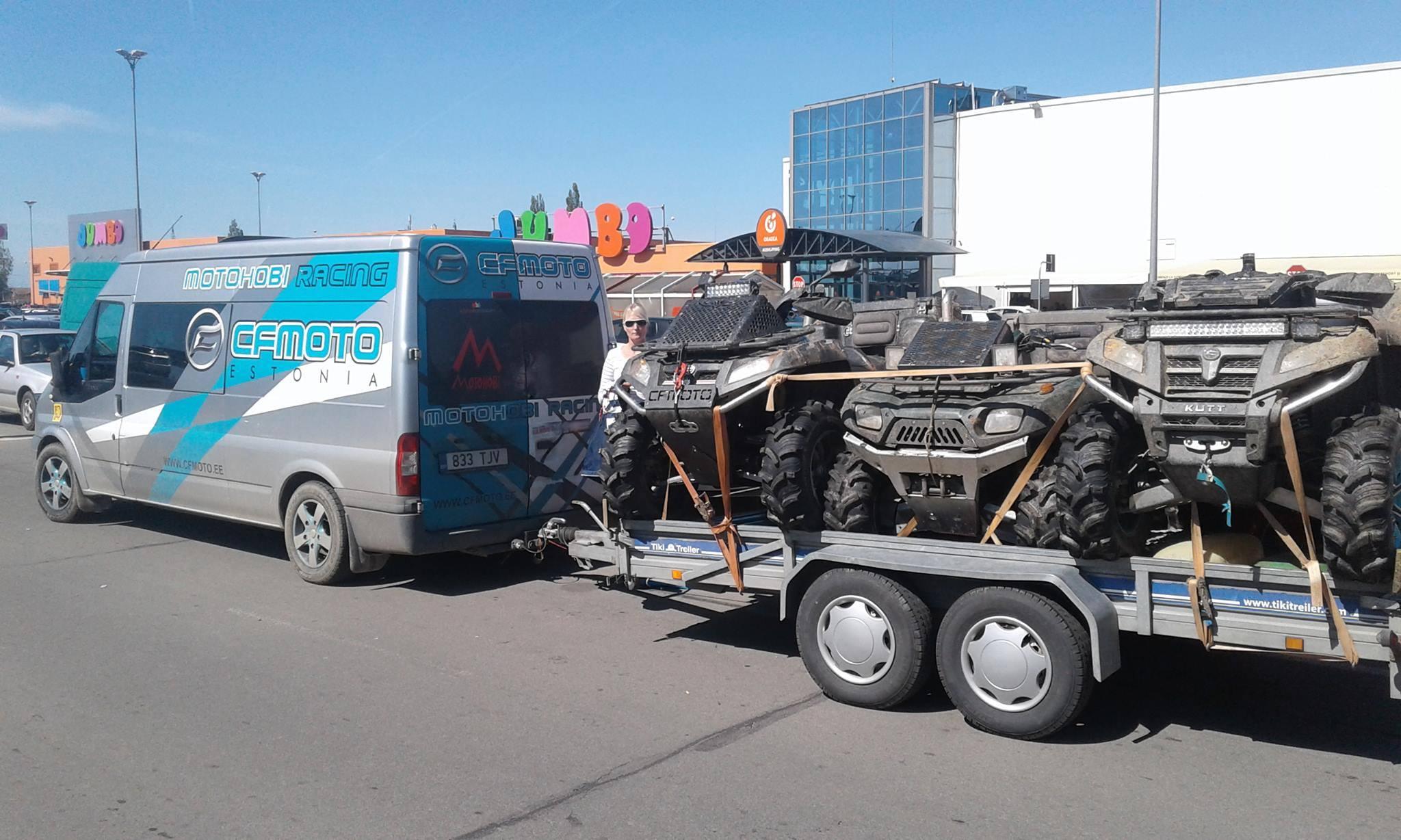 Treiler varastatud ATVdega (erakogu)