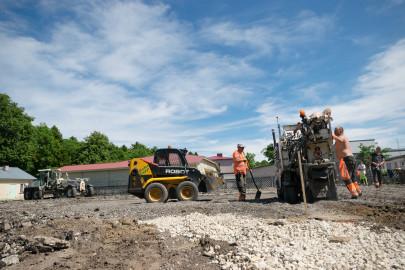Haapsalu turg, asfalteerimine, Foto: Lemmi Kann