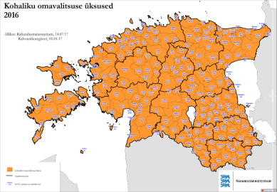 Eesti haldusüksused enne ühinemisi