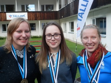 Naislaskurid Lydia Kurus, Kärt Vassar, Triin Kuusik. Foto Seppi