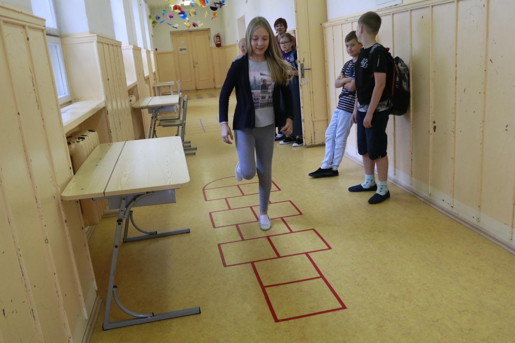 Haapsalu linna algkool paneb õpilased liikuma