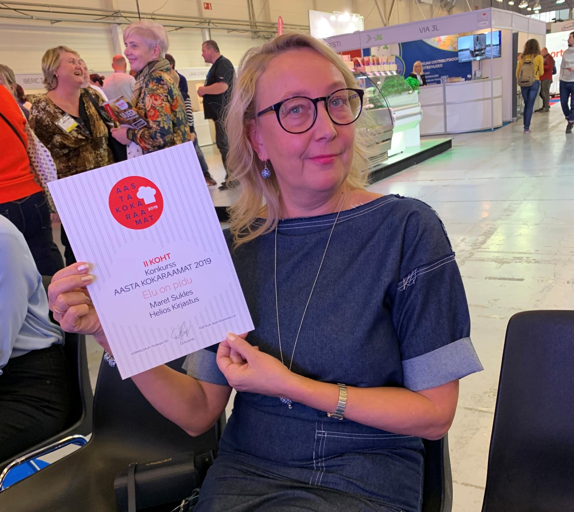 Maret Suklese kokaraamat sai aasta kokaraamatu konkursil  teise koha