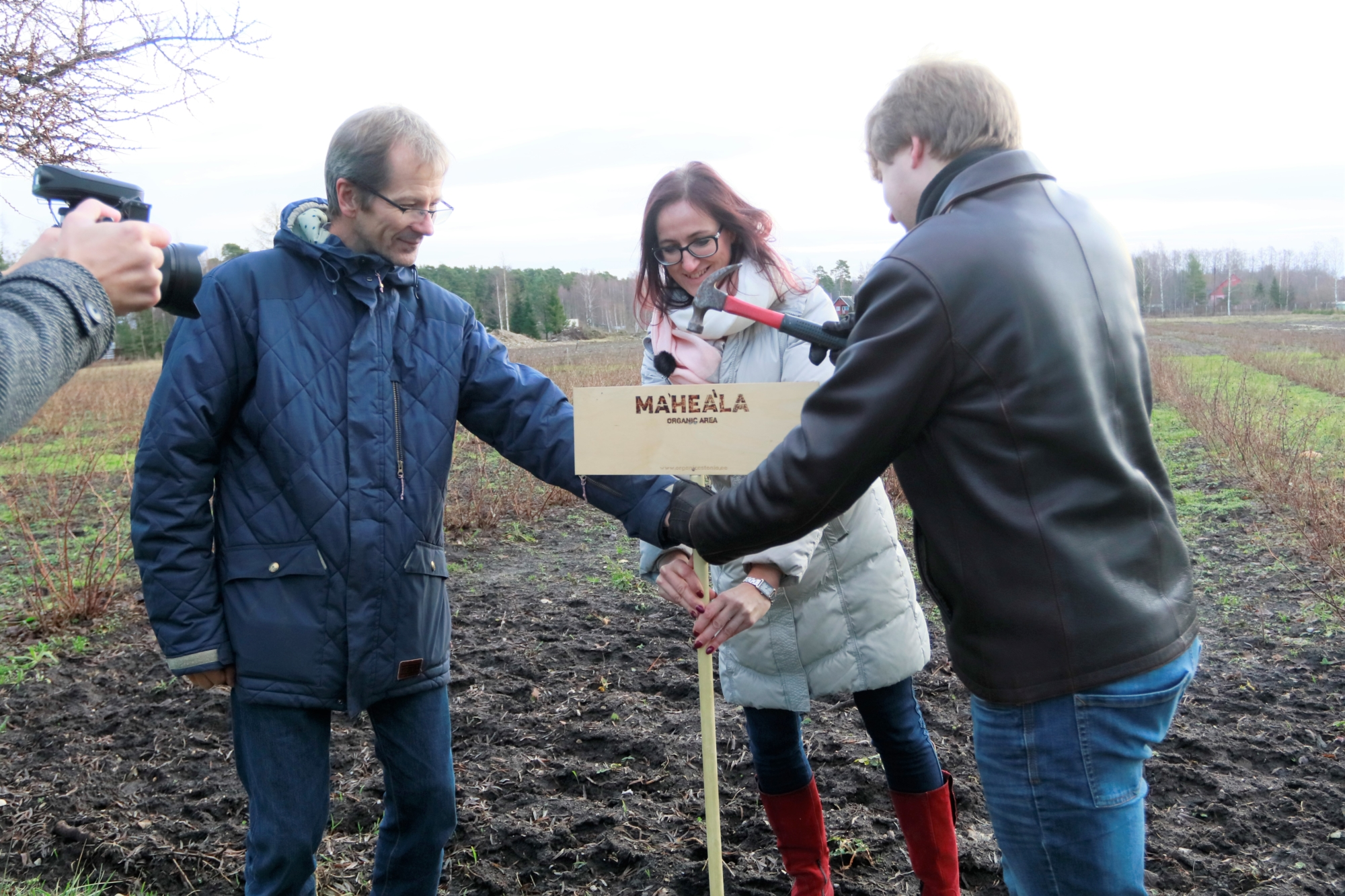 Läänemaa talunik Ain Meentalo põld sai Läänemaa esimese maheala sildi